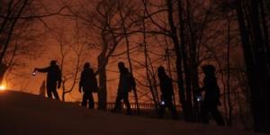 les amis de la montagne lights snowshoeing