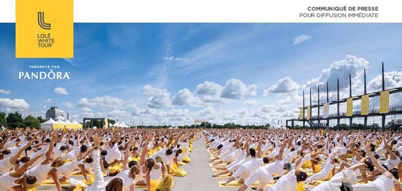 Yoga and Meditation with the Lole White Tour