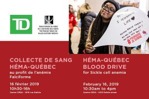 Montreal Black History Month Blood Drive, Saturday Feb 16, 10:30AM