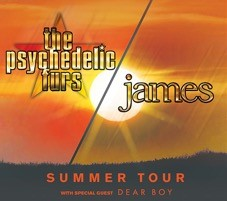 THE PSYCHEDELIC FURS AND JAMES ANNOUNCE NORTH AMERICAN CO-HEADLINING TOUR
