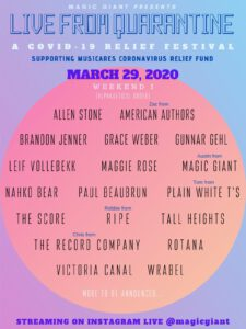 MAGIC GIANT Announces Digital Music Festival Live From Quarantine