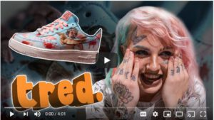 "BRED.'S ""TRED."" YOUTUBE SERIES SURPRISES BABY GOTH WITH CUSTOM SNEAKERS"