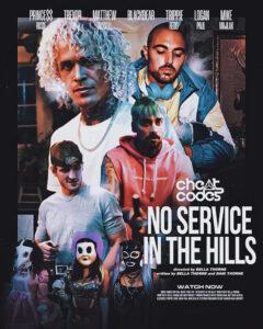 "Cheat Codes team up with Bella Thorne, Logan Paul, Trippie Redd, blackbear,& more for satirical horror film around ""No Service In The Hills"""