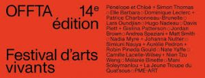 14th OFFTA: 2nd wave of projects unveiled – Mani Soleymanlou and La Jeune Troupe du Quat'Sous, Nadia Myre and Johanna Nutter, Hugo Nadeau