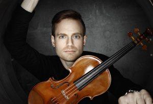 Violinist Mark Djokic performs for the Orchestre classique de Montréal