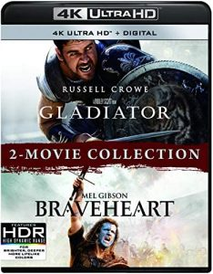 Braveheart/Gladiator – 2-Movie Collection – 4K HD Edition