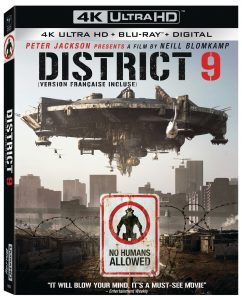 SONY PICTURES HOME ENTERTAINMENT New Release – DISTRICT 9 UHD