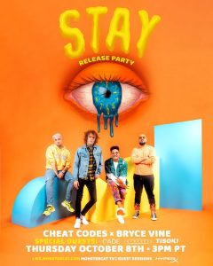 """Tune in: Cheat Codes host virtual release party for """"STAY"""" with Bryce Vine"""
