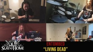 "MEGADETH + CARCASS + TESTAMENT + ABYSMAL DAWN Members Cover ENTOMBED A.D.'s ""Living Dead"""