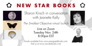 Book launch: The Smallest Objective by Sharon Kirsch, Tuesday, November 24 @ 8pm