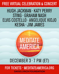 "DAVID LYNCH TO LAUNCH ""MEDITATE AMERICA"" ON DECEMBER 3"
