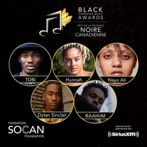 SOCAN Foundation Announces Winners of First-ever SiriusXM Black Canadian Music Awards