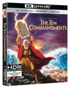 The Ten Commandments arrives in 4K Ultra HD for the first time on March 30, 2021 from Paramount Home Entertainment