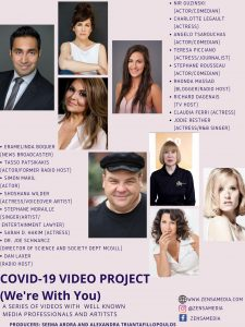 Zensa Media's Covid video project latest poster and upcoming video block