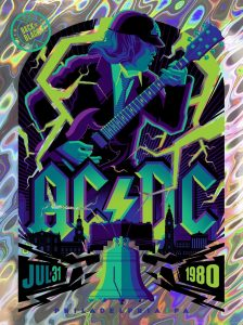ECHO releases AC/DC limited edition print series by Tom Whalen