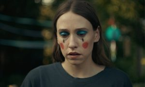 Sarah Sutherland and Hubert Lenoir in LIKE A HOUSE ON FIRE opening in theatres on March 26