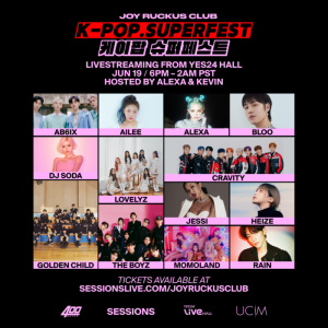 K-Pop SuperFest Presented by Sessions with Joy Ruckus Club on Saturday, June 19