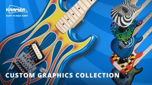 Kramer: Announces New Custom Graphics Collection For Summer 2021; Iconic 80's Pop-Culture Guitars Available Worldwide At KramerGuitars.com