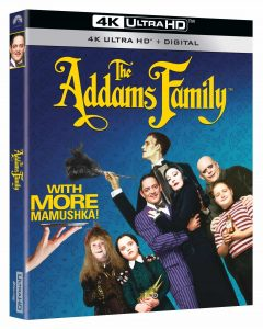 THE ADDAMS FAMILY arrives for the first time on Digital 4K Ultra HD on October 19, 2021, as well as 4K Ultra HD Blu-ray November 9, 2021 from Paramount Home Entertainment