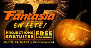 Fantasia will offer free screenings in October and December at the Imperial Cinema