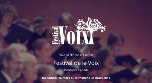 Festival de la Voix- 6th edition, Mar. 16-31 in the West Island
