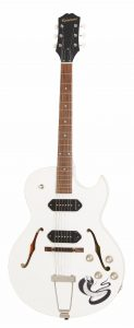 """Epiphone presents """"Ltd. Ed. George Thorogood """"White Fang"""" ES-125TDC Outfit"""