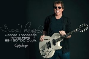 """George Thorogood To Celebrate The Release Of His New: """"Epiphone Ltd Ed. George Thorogood 'White Fang' ES-125TDC Outfit"""""""