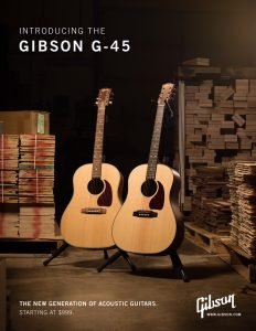 Gibson G-45 Series Collection: A New Generation Of Gibson Acoustic Guitars And A New Entry Point For A Gibson Acoustic