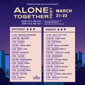 Alone Together Fest Brings Together Small Talks, Glacier Veins, Kayak Jones & More