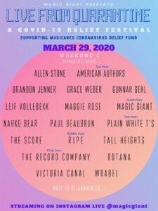 MAGIC GIANT Announces Digital Music Festival Live From Quarantine