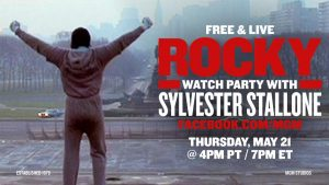 TODAY: LIVE ROCKY Movie Watch Party with Sylvester Stallone