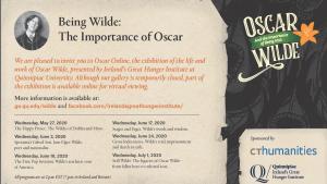 Ireland's Great Hunger Institute at Quinnipiac University presents Oscar Wilde online