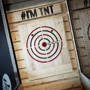 TNT Axe Throwing   New member of A/Maze Family  💯