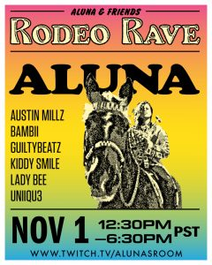 Aluna Creates All Black, POC, Female Electronic Festival – Aluna & Friends: RODEO RAVE to Livestream November 1st