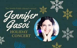 Jennifer Gasoi Holiday Concert – Sunday, December 6, at 11:00 a.m.