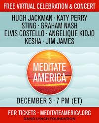 "DAVID LYNCH TO LAUNCH ""MEDITATE AMERICA"" ON DECEMBER 3"