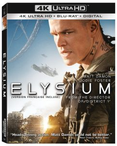 SONY PICTURES HOME ENTERTAINMENT New Release – ELYSIUM ON 4K ULTRA HD™