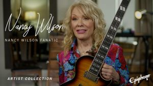 First Epiphone Guitar Designed by Nancy Wilson, Co-Founder of Multi-platinum Rock Group Heart Out Now