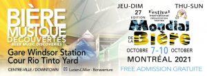 The Mondial de la bière Festival presents Les terrasses d'automne from October 7 to 10
