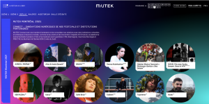 The 22nd edition of Mutek is Available Virtually until the end of September